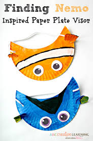finding nemo inspired paper plate visor hat for kids disney fun then you will love our finding nemo inspired paper plate