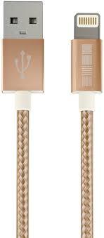 Кабель <b>InterStep</b> Apple Lightning - <b>USB</b> 2.0 Nylon, <b>1 м</b>, Gold ...
