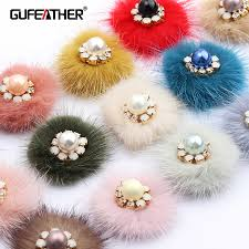 GUFEATHER M477,jewelry accessories,real fur mink,hand made ...