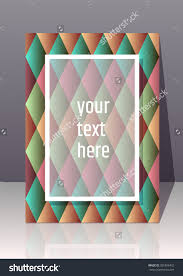 abstract colorful d effect a dimensions stock vector  abstract colorful 3d effect a4 dimensions card creative title page background mini stic backdrop