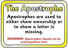 Resultado de imagen de apostrophes uses