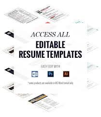 access all editable resume templates   rockstarcv comthursday  th    access all editable resume templates