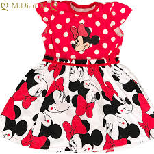 Girls Summer Dress <b>Cartoon</b> Print Minnie Dress Baby Girl Costume ...