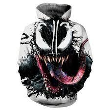 Women/Men Hoodies <b>3D Print Venom</b> Face Sweatshirts Sweater ...
