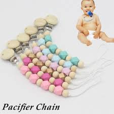 wood purple pacifier clip chain dummy holder soother prendedor de chupeta nipple for infant baby feeding