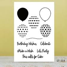 Birthday <b>Balloon Transparent Silicone</b> Stamps Seal For Diy ...
