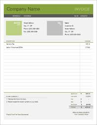 Simple Invoice Template for Excel - Free Simple Invoice Template (Bold theme)