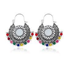 Boho <b>Vintage Hoop Earrings</b> for Women Ear Piercing Huggie ...
