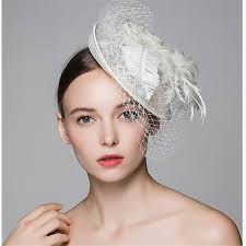 Xthree <b>fashion</b> Bridal Net Feather White <b>Fedora</b> hat for <b>women</b> Veil ...