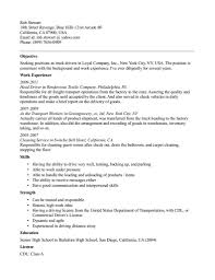 truck driver resume sample no experience job and resume template 800 x 1036