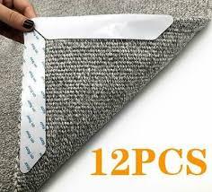 <b>12pcs</b> Anti Curling <b>Carpet Rug</b> Gripper. <b>Large Size</b> Reusable <b>Carpet</b> ...