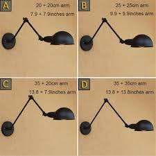 Black <b>Adjustable Long Swing</b> Arm Wall Lamp Vintage Wandlamp ...