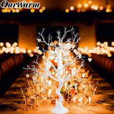 <b>Ourwarm</b> 75cm White Artificial Plastic Tree Wedding Tree ...