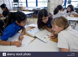 anglo and hispanic middle school girls use encyclopedia to do anglo and hispanic middle school girls use encyclopedia to do research for small group project in english class