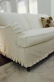 Her Neighbor Had Given Her This Great Scrolled Back English Rolled Arm Couch So She A Great Custom Slipcovers By Shelley