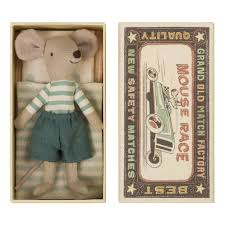 <b>Mouse</b> Big Brother in a Box <b>Cuddly Toy 12cm</b> Maileg <b>Toys</b> and