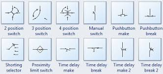 standard circuit symbols for circuit schematic diagramsmore switch symbols