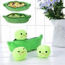 <b>25CM</b> 40CM Kids Plush Toy <b>Cute</b> Pea <b>Stuffed</b> Plant Kawaii Pea ...