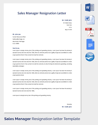 resignation letter template 25 free word pdf documents download resignation letter formats
