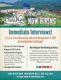 chula vista resort linkedin stop by any wednesday from 15 5 2017 from 3 p m to 6 p m for your interview or apply online at jobsatchula com
