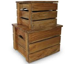 vidaXL <b>Storage Crate Set</b> 2 Pieces Solid Reclaimed Wood | vidaXL ...
