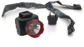 <b>Фонарь светодиодный</b> аккум. <b>налобный LED</b> 2 режима 1Вт ...