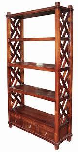 rak buku jati jepara: Lemari rak buku kayu jati minimalis murah furniture katalog