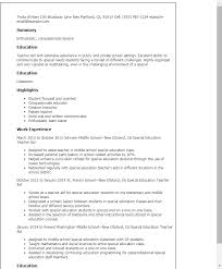 resume templates special education teacher aide special education teacher sample resume