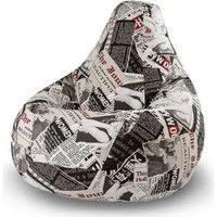«<b>Кресло</b>-<b>груша Папа Пуф Жаккард</b> газета» — Мебель — купить ...