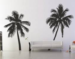 palm tree wall stickers: palm tree silhouette wall stickers il x we palm tree silhouette wall stickers