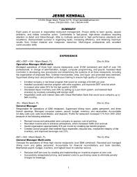 sample restaurant manager resume com restaurant duties for resume operation manager experience restaurant general multi unit manager resume sample