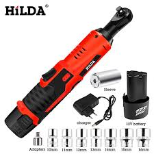 HILDA 12V <b>Electric</b> Wrench Kit Cordless Ratchet Wrench ...