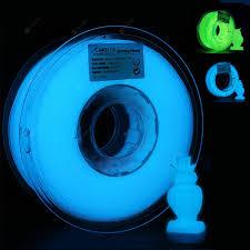 3D <b>Printer Filament PLA</b> 1.75mm Glow In the Dark Blue Green 1KG ...