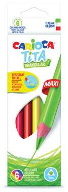 <b>Carioca набор цветных карандашей</b> Tita Maxi 6 цветов (42790 ...