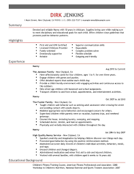 objective for nanny resume resume formt cover letter examples nanny resume objective