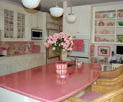 dishy kitchen counter decorating ideas: pics photos kitchen design pink kitchen color style decorating