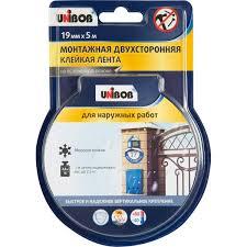 <b>Лента двусторонняя</b> для наружных работ <b>Unibob</b>, 19 мм х 5 м в ...
