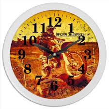 Часы круглые из пластика <b>Время эндурить</b> #2635491 от DP68