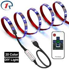 <b>ZjRight USB</b> 5V RGB Led strip light <b>IR Remote</b> Flexible 20colors DIY ...