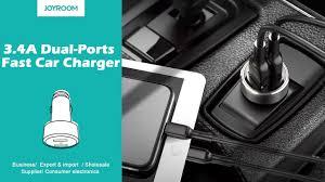 JOYROOM C-<b>A02</b> 3.4A Dual-Ports fast <b>car charger</b> - YouTube