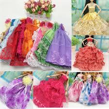 <b>10Pcs</b>/set Handmake Princess <b>Dress</b> with <b>Lace</b> for s Colorful ...