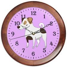 Часы круглые из дерева <b>ДЖЕК</b> РАССЕЛ.СОБАКА #2230081 от ...
