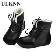 <b>ULKNN Boys Winter Boots</b> Kids Ankle Fur Snow Boots Children ...