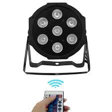 <b>Wireless</b> remote control LED Par <b>7x12W</b> RGBW 4IN1 LED Wash ...