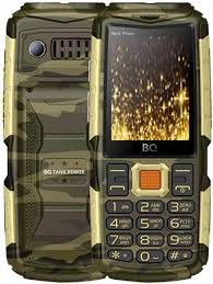 Мобильный <b>телефон BQ BQ</b>-<b>2430</b> Tank Power (камуфляж/золото)