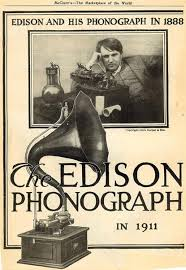 「1877, thomas edison first opened the record player he invented」の画像検索結果
