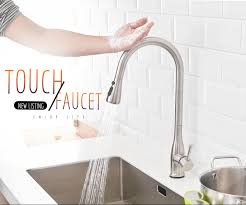 <b>FLG</b> Smart <b>Touch</b> Kitchen Faucets Stainless Steel <b>Touch</b> Inductive ...