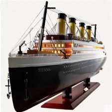 <b>30 100 CM</b> Wooden Titanic Cruise Ship Model with LED Decoration ...