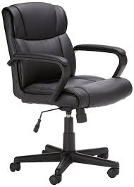 amazonbasics mid back leather office chair best pc gaming chairs brilliant tall office chair