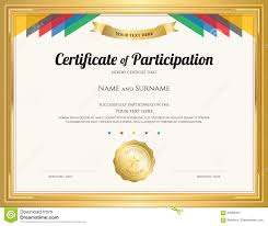 blank certificate of attendance blank certificate of recognition certificate of participation template certificates templates certificate participation template gold border colorful stripe 84068437 certificate of